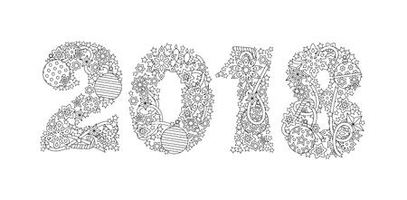 Tarjeta De Felicitación Feliz Año Nuevo 2018 Corona Que