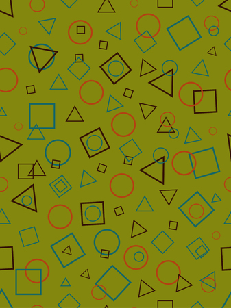 Seamless abstract pattern with geometric shapes Illustration