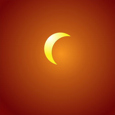 Solar eclipse on an orange background
