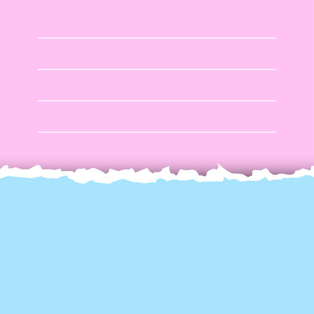 Pastel blue and pink texture of torn paper. Preparation for an inscription, a cover, registration, design, banners.Torn paper with copy space for your text.