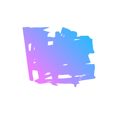 Blue and pink hand draw  brush stroke. Decorative colored frame. Grunge banner, substrate. Иллюстрация