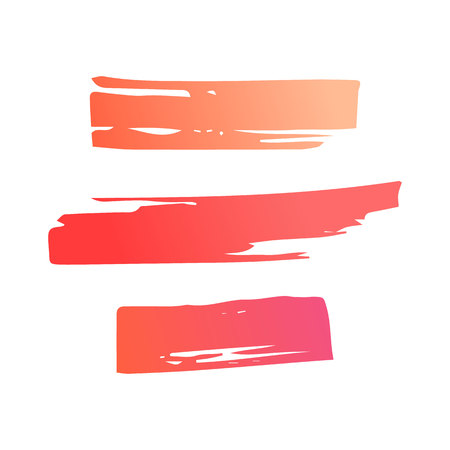 Hand draw  brush strokes. Set of decorative colored frames. Grunge pink and coral banner, substrate. Иллюстрация