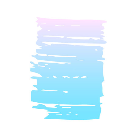 Pastel colored grunge element. Decorative blue and pink banner on a white isolated background. Vector illustration. Иллюстрация