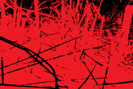 Scary mystical bloody background. Old texture of grass.The forest is on fire.  Illustrarion.