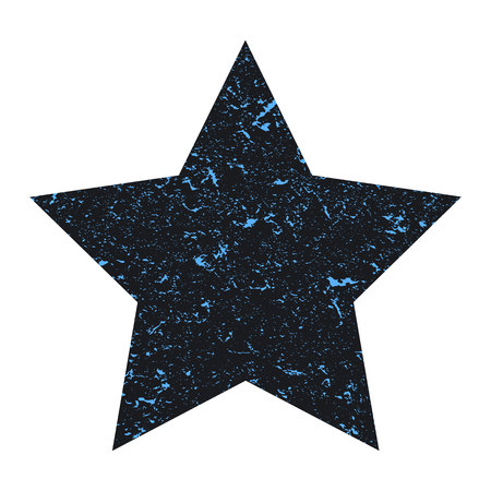 Grunge star. Gray star with texture on an isolated white background. Marble star. Illustration. Imagens