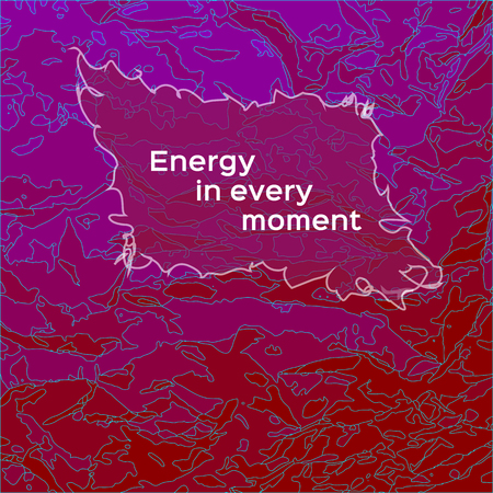 The template for the greeting cards in red - Energy in every moment 版權商用圖片 - 79511016