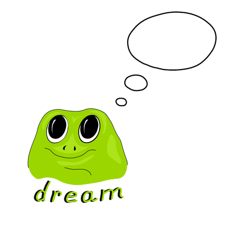 Vector illustration with green frog