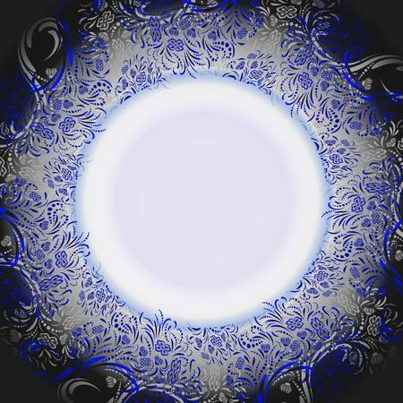 Vector floral ornament frame Illustration
