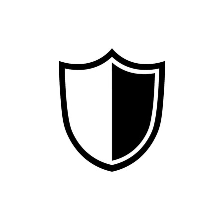Shield icon in flat style. Security symbol