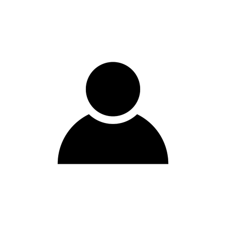 Person icon in flat style. Man symbol