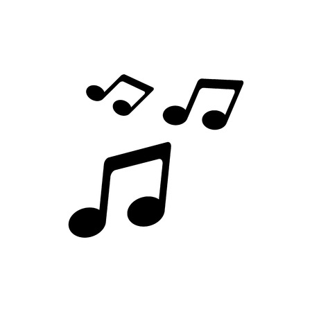 Music icon. Sound symbol in flat style.
