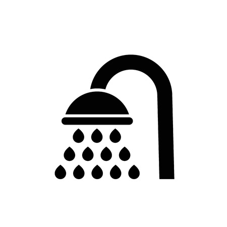 Shower vector icon. filled flat bathroom symbol isolated on white background. Showerheads simple solid icon. Abstract shower icon in black. Vector illustration for graphic design, Web, UI, app Illustration