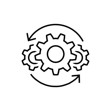 Operations line icon in flat style on white