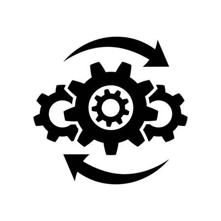 Betriebssymbol im flachen Stil auf weiß Vektorgrafik