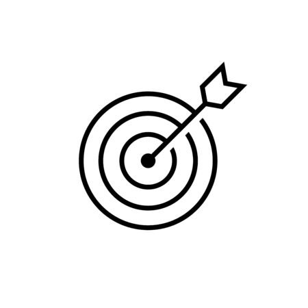Marketing target Icon in flat style. Aim symbol