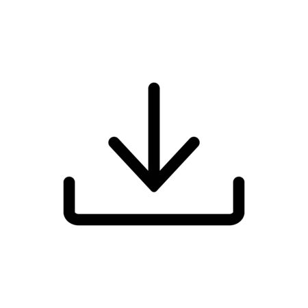 Download vector icon. Install symbol Upload button