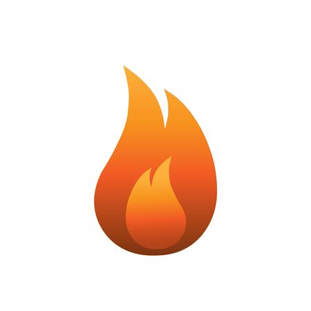 Fire flame icon in flat style Fire symbol Illustration