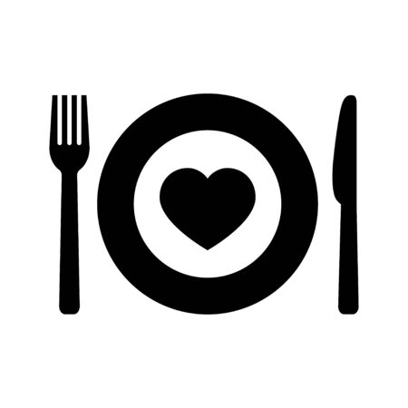 Charity food icon in flat style on white