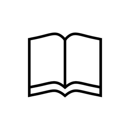 Book icon in flat style Paper book symbol on white