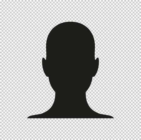 human profile picture  - black vector icon