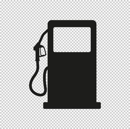 gas station sign -  black vector icon