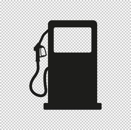 signe de la station-service - icône vecteur noir Vecteurs