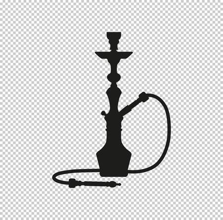 silhouette d'un narguilé - icône vecteur noir