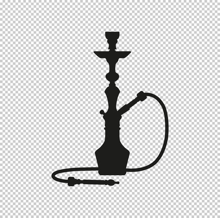 silhouette of a hookah - black vector icon