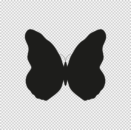 butterfly - black vector icon