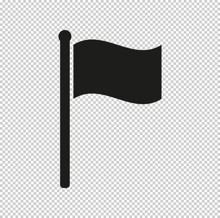 flag -  black vector icon 矢量图像
