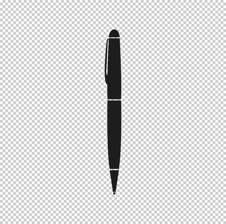 pen  - black vector icon Illustration