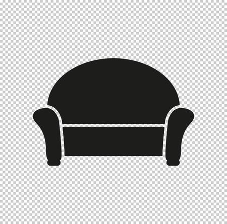 sofa - black vector icon Vetores