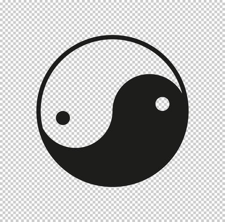 Yin yang symbol  - black vector icon