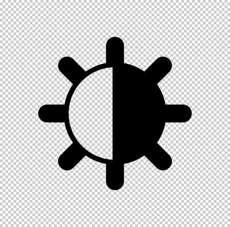 contrasts  - black vector icon