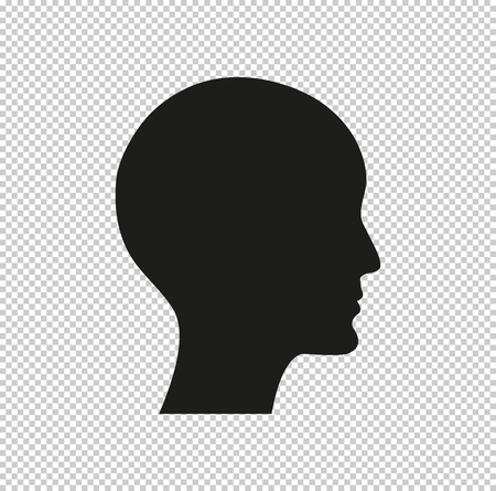 human profile picture black vector icon