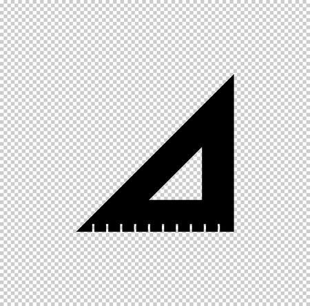 ruler instruments - black vector icon Vetores