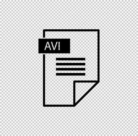avi icon - black vector icon Vector Illustration