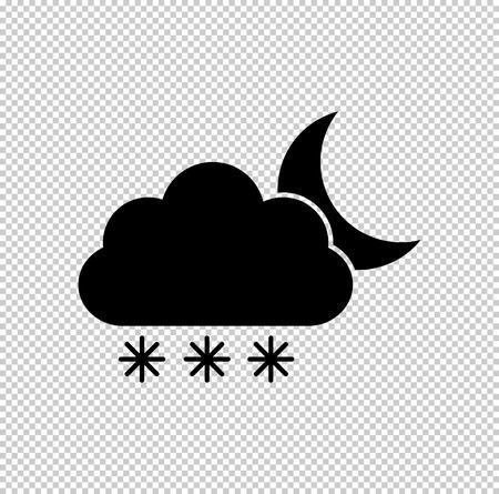 weather icon - black vector icon