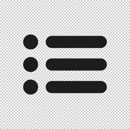 expand menu button - black vector icon