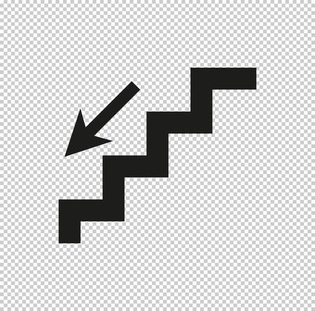escaleras - icono de vector negro Ilustración de vector
