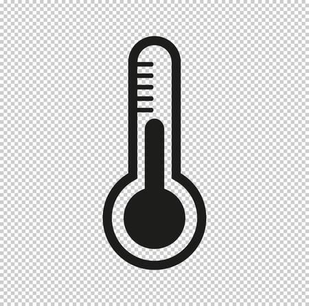 Thermometer - black vector icon