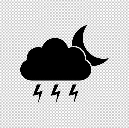 weather icon - black vector icon Vektoros illusztráció