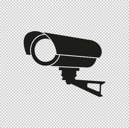 Video surveillance CCTV Camera - black vector icon