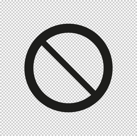 Not Allowed Sign - black vector icon
