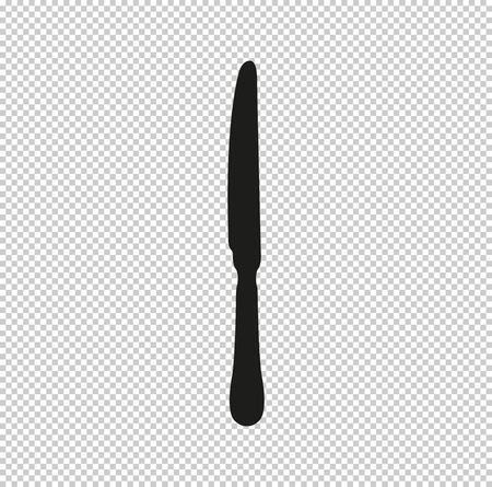 knife  - black vector icon Stock Vector - 116439435