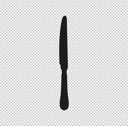 knife  - black vector icon