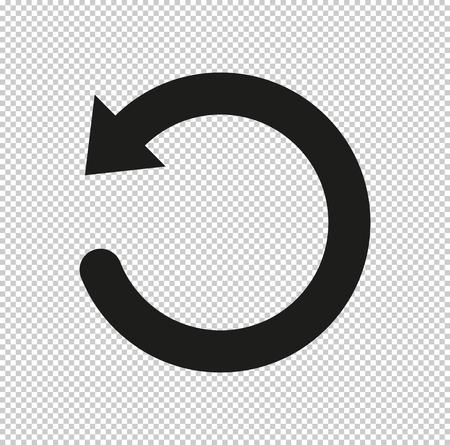 undo symbol - black vector icon Vector Illustration