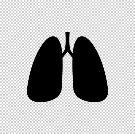 Human lung  - black vector icon Çizim