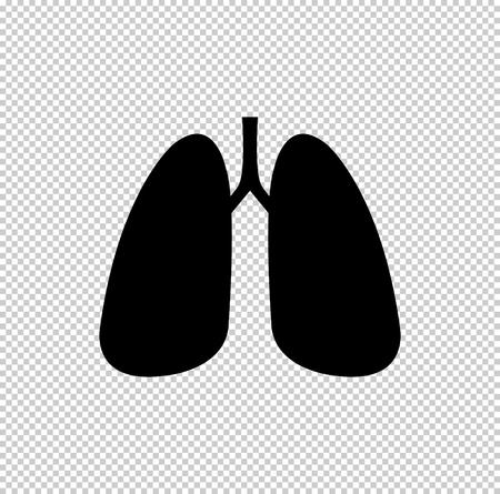 Human lung  - black vector icon Illustration