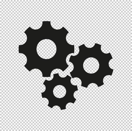Settings - black vector icon